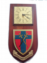 British Army of the Rhine Germany  Regimental Wall Plaque Clock